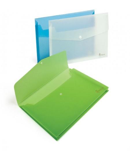 Dėklas - vokas su spaustuku ir praplatėjimu FORPUS, A4, žalias
