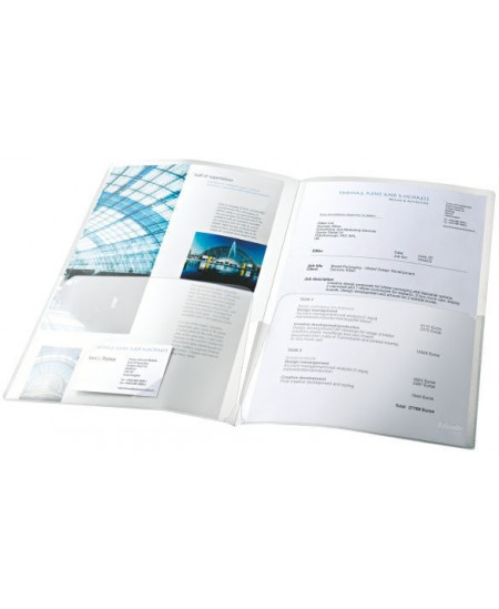 Įmautė-dėklas dokumentams ESSELTE, A4, dviguba, skaidri, 5 vnt.