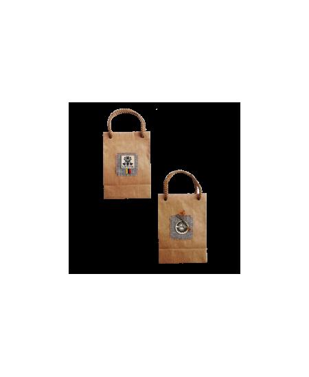 Dovanų maišelis, 100x62x145 mm, dekoruotas