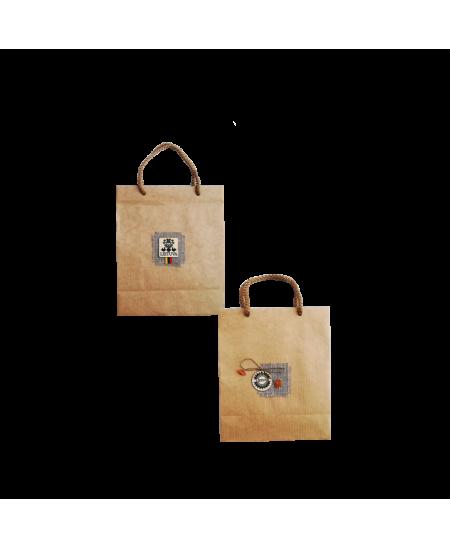 Dovanų maišelis, 160x70x190 mm, dekoruotas