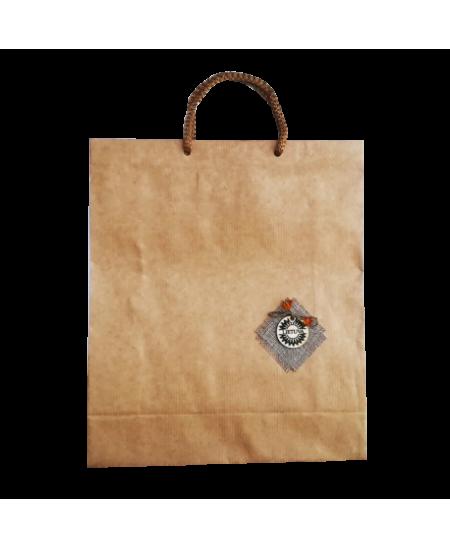 Dovanų maišelis, 240x90x285 mm, dekoruotas