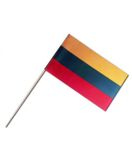 Lietuvos vėliavėlė, maža, popierinė, 170x100 mm, kotelis 300 mm