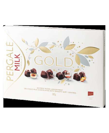 Pieniškų saldainių rinkinys PERGALĖ Gold 382 g