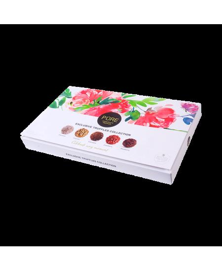 Pieniško šokolado ir šokoladinių triufelių rinkinys PURE 160g
