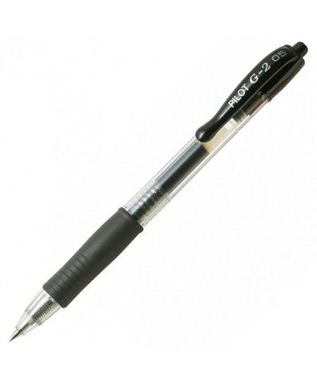 Automatinis gelinis rašiklis PILOT G2, 0.7mm, juodos spalvos