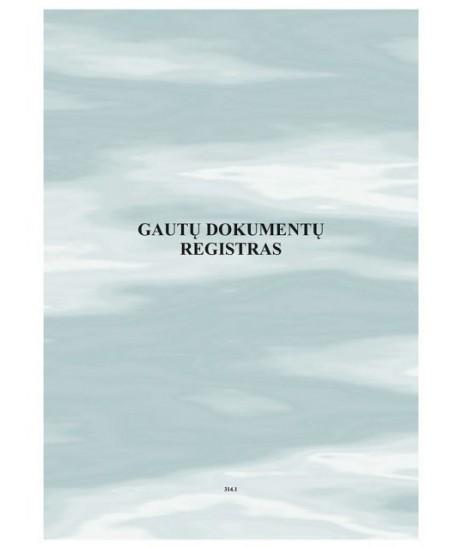 Gautų dokumentų registras A4, 48 lapai