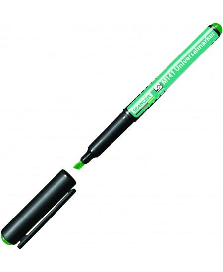 Permanentinis žymeklis STANGER M141, kirsta galvutė, 1-3mm, žalias