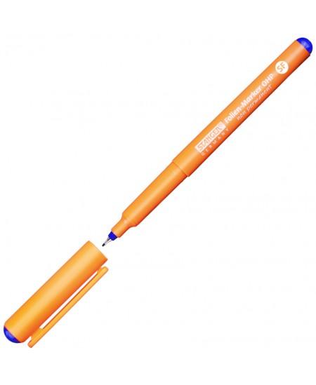Nuvalomas žymeklis STANGER OHP, 0,4 mm, mėlynas