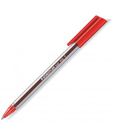 Tušinukas STAEDTLER 432, 0,5mm, raudonas