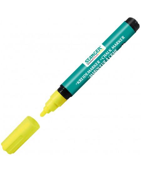 Kreidinis žymeklis STANGER Small, geltonas