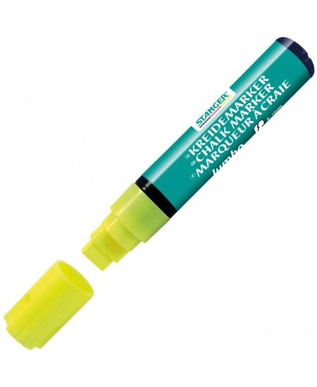 Kreidinis žymeklis STANGER Jumbo, geltonas
