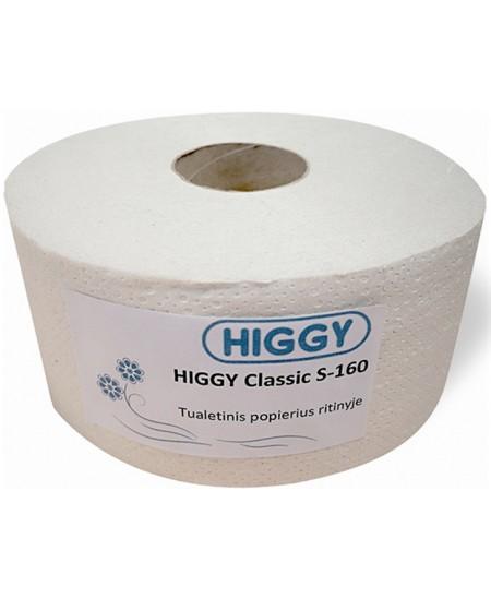 Tualetinis popierius ritinyje HIGGY Classic S-160, 1 ritinys
