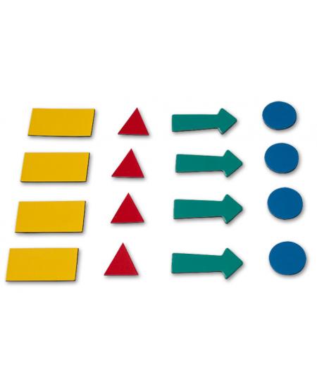 Magnetiniai simboliai 2x3 planavimo lentai, 307 vnt.