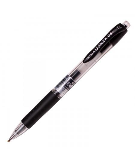 Automatinis gelinis rašiklis Dong-A U-Knock, 0.5 mm, juodos spalvos