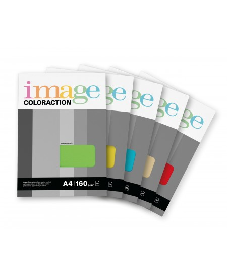 Spalvotas popierius IMAGE COLORACTION, 160g/m2, A4, 50 lapų, geltona (Yellow)