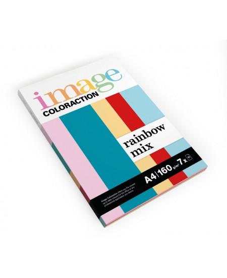 Spalvotas popierius IMAGE COLORACTION, 160g/m2, A4, 70 lapų, įvairių spalvų