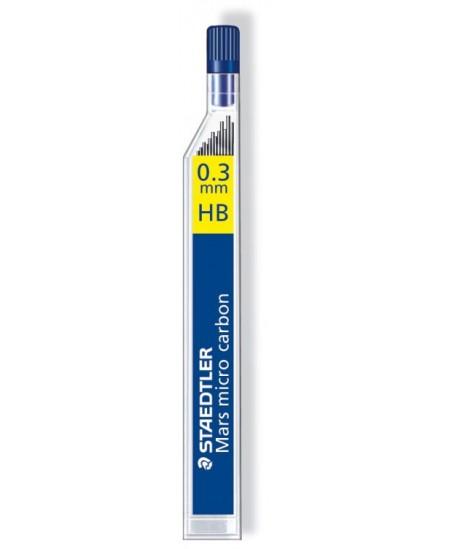 Grafitai automatiniams pieštukams STAEDTLER, 0,3 mm (HB), 12 vnt.