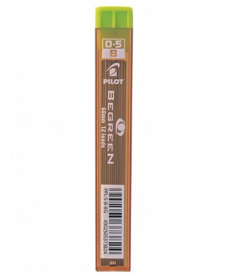 Ekologiški grafitai automatiniams pieštukams PILOT BeGreen, 0,5 mm (HB), 12 vnt.