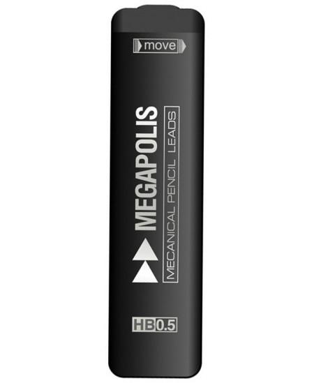 Grafitai automatiniams pieštukams ERICH KRAUSE MEGAPOLIS, 0,5 mm (HB), 20 vnt.