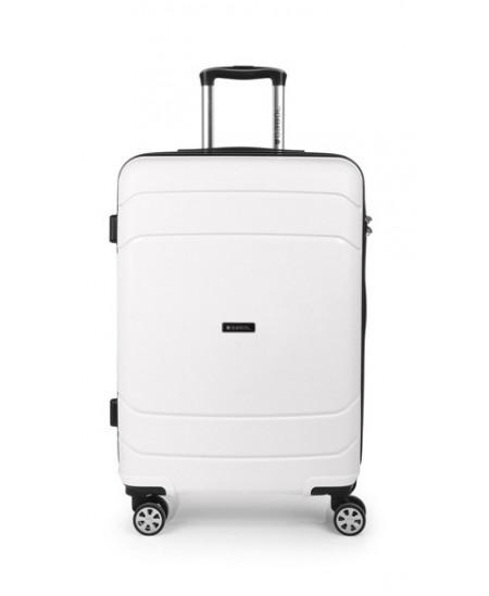 Kelioninis lagaminas SHIBUYA, vidutinis, 45x67x26 cm, baltas