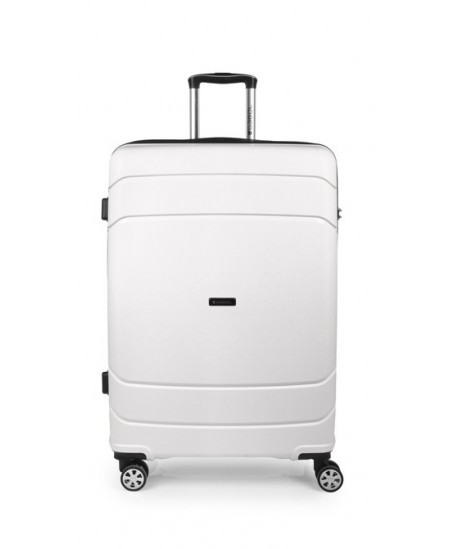 Kelioninis lagaminas SHIBUYA, didelis, 51x77x29 cm, baltas