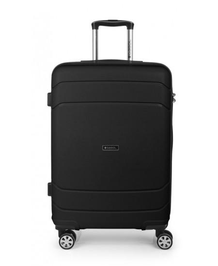 Kelioninis lagaminas SHIBUYA, vidutinis, 45x67x26 cm, juodas