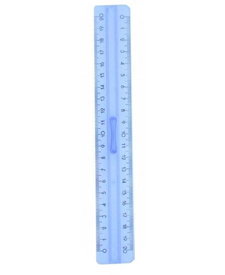 Liniuotė 20 cm, dviguba, su laikikliu