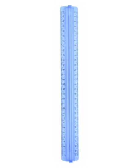 Liniuotė 30 cm, dviguba, su laikikliu