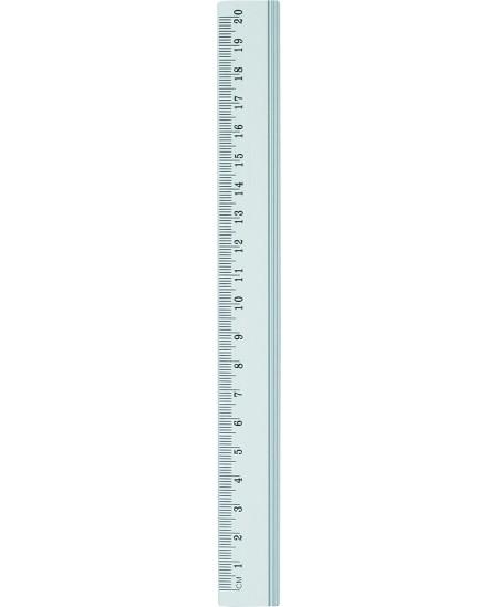 Liniuotė GRAND, 20 cm, metalinė