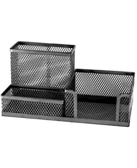 Perforuoto metalo pieštukinė PROFICE, 3 skyriai, juodos spalvos
