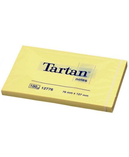 Lipnūs lapeliai TARTAN, 127x76 mm, 100 lapelių, geltoni