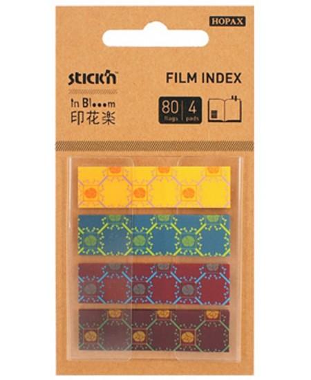 Lipnūs indeksai STICK´N in Blooom, 12x45 mm, ryškūs, 4 x 20 vnt.