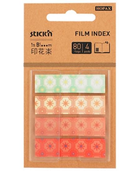 Lipnūs indeksai STICK´N in Blooom, 12x45 mm, šviesūs, 4 x 20 vnt.
