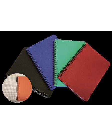 Sąsiuvinis su spirale SM-LT, dekoratyvinio kartono viršeliais, A4, 96 lapų