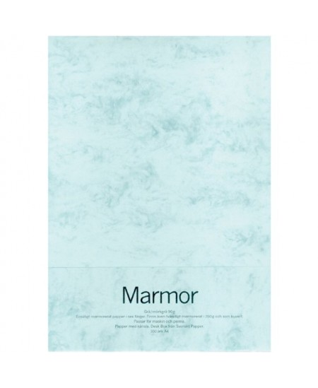 Dekoratyvinis popierius MARMOR, A4, 200 g/m2, 70 lapų, mėlynas