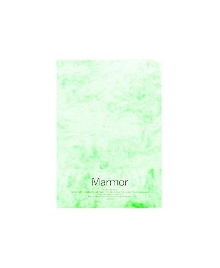 Dekoratyvinis popierius MARMOR, A4, 200 g/m2, 70 lapų, žalias