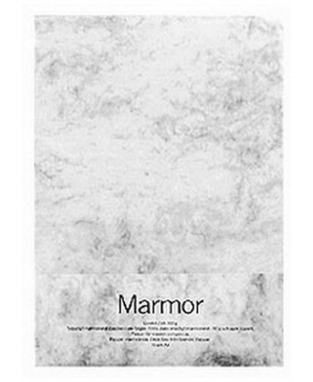 Dekoratyvinis popierius MARMOR, A4, 90 g/m2, 100 lapų, baltas