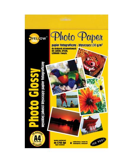 Fotopopierius YELLOW ONE, 130 g/m2, A4, blizgus, 20 lapų