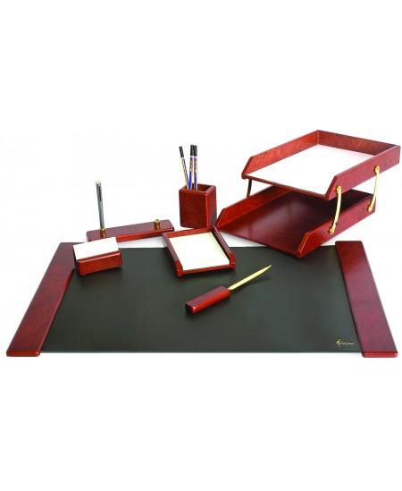 Darbo stalo rinkinys FORPUS, medinis, 7-ių dalių