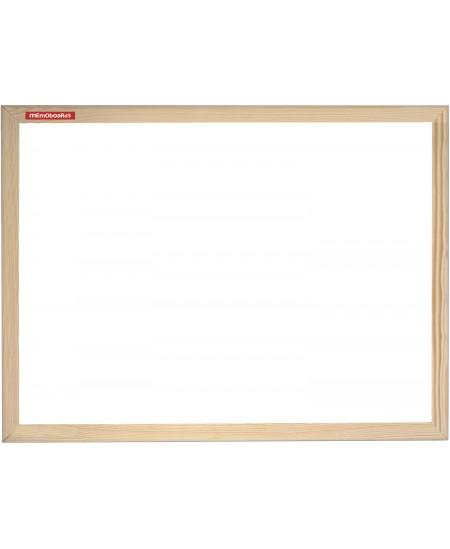 Balta magnetinė lenta MEMOBOARDS 90x120 cm, mediniu rėmu