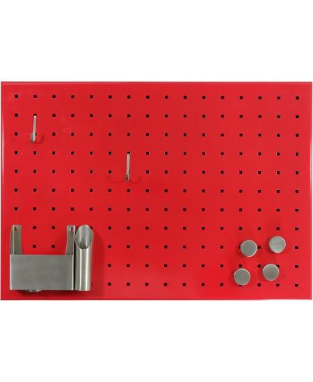 Nerūdijančio plieno magnetinė lenta MEMOBOARDS, 50 x 35 cm, raudona