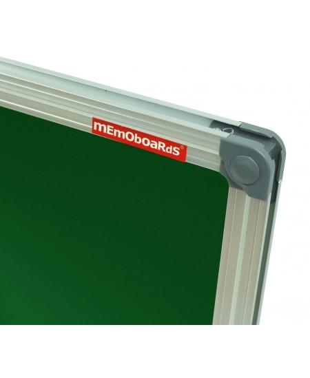 Kreidinė magnetinė lenta MEMOBOARDS, 90x120 cm, aliuminio rėmas, žalia