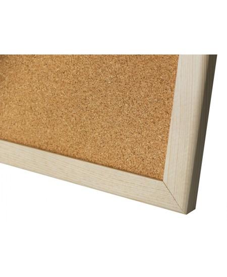 Kamštinė lenta MEMOBOARDS mediniu rėmu, 60x40 cm