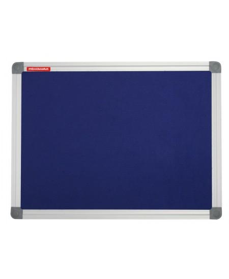 Tekstilinė skelbimų lenta MEMOBOARDS 120x90cm, aliuminiais rėmais, mėlynos sp.