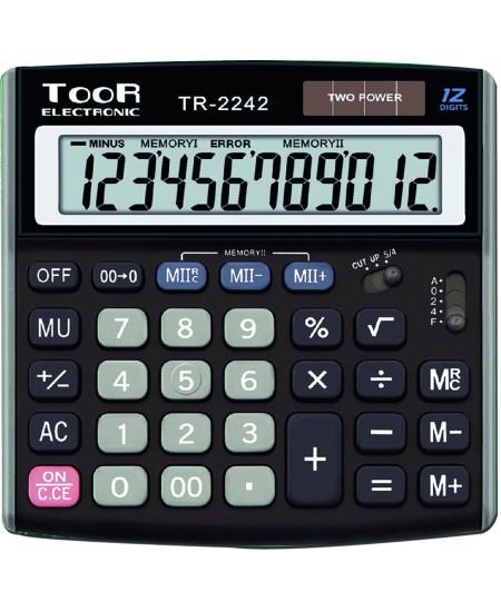 Skaičiuotuvas TOOR 2242T, 12 skaitmenų
