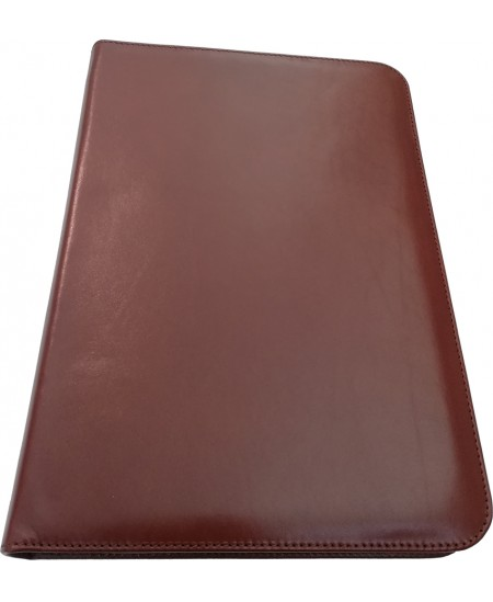Dokumentų-pasitarimų aplankas, A4, natūrali oda, rudas