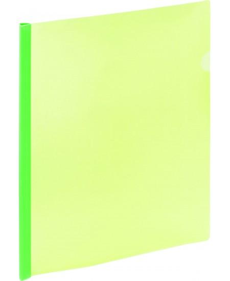 Aplankas su spaustuku GRAND, A4, žalias