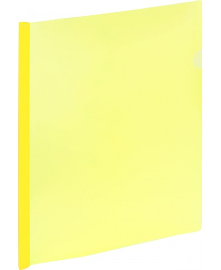Aplankas su spaustuku GRAND, A4, geltonas