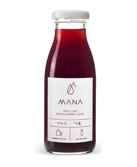 Obuolių, juodųjų serbentų sultys MANA, 750 ml