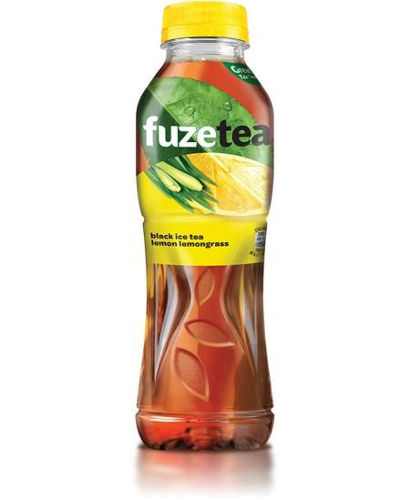 Šaltoji citrinų ir citrinžolių arbata Fuzetea, 500 ml